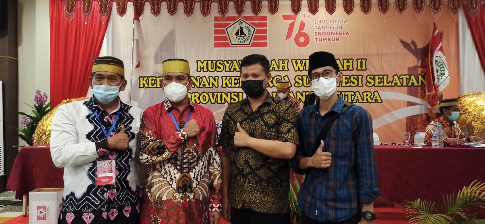Poto Ketua KKSS terpilih bersama Pilar dari Tana Luwu